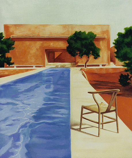 Hockney style painting